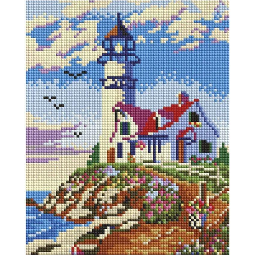 Мозаика на подрамнике «Старый маяк»